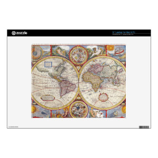 "Vintage Antique Old World Map cartography 12"" Laptop Decals"