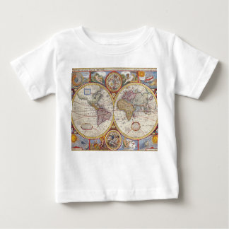 Vintage Antique Old World Map cartography Baby T-Shirt
