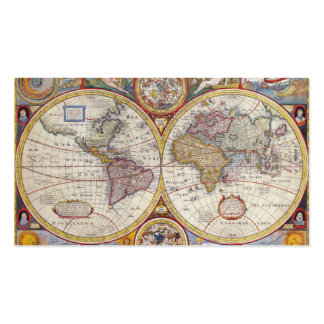 Vintage Antique Old World Map cartography Pack Of Standard Business Cards