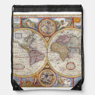 Map backpacks zazzle vintage antique old world map cartography drawstring backpack gumiabroncs Image collections