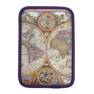 Vintage Antique Old World Map cartography iPad Mini Sleeve
