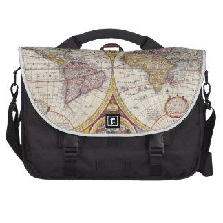 Vintage Antique Old World Map cartography Laptop Bag