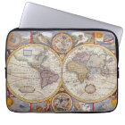 Vintage Antique Old World Map cartography Laptop Sleeve