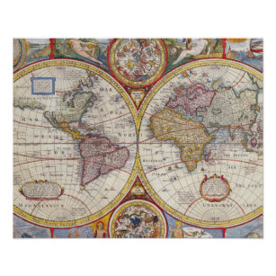 Old india map gifts on zazzle vintage antique old world map cartography poster gumiabroncs Images