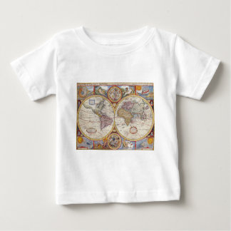 Vintage Antique Old World Map cartography Shirt