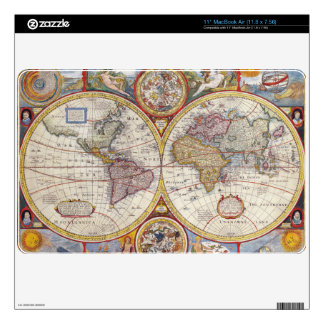 Vintage Antique Old World Map cartography Skin For MacBook