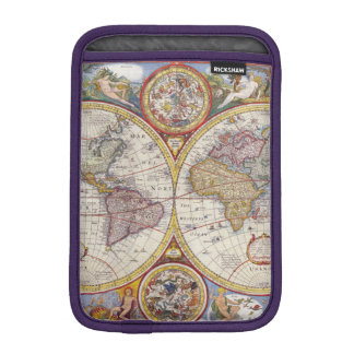 Vintage Antique Old World Map cartography Sleeve For iPad Mini