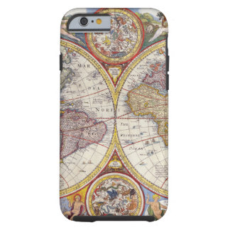 Vintage Antique Old World Map cartography Tough iPhone 6 Case