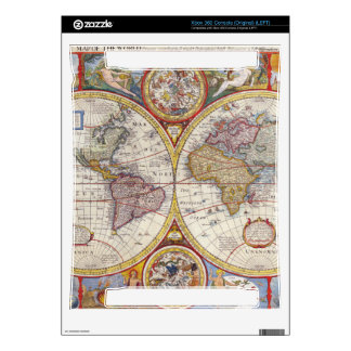 Vintage Antique Old World Map cartography Xbox 360 Decal
