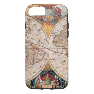 Vintage Antique Old World Map Design Faded iPhone 7 Case