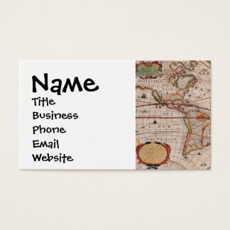 Vintage Antique Old World Map Design Faded Print Business Card
