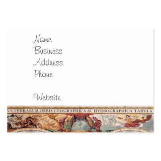 Vintage Antique Old World Map Design Faded Print Large Business Cards (Pack Of 100)