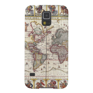 Vintage Antique Old World Map Design Faded Print Cases For Galaxy S5