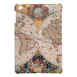 Vintage Antique Old World Map Design Faded Print Cover For The iPad Mini