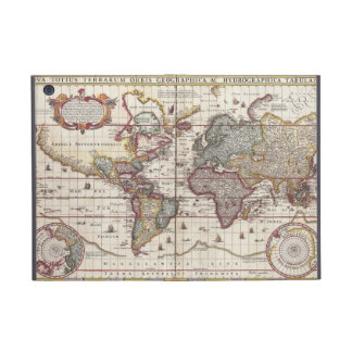 Vintage Antique Old World Map Design Faded Print Covers For iPad Mini