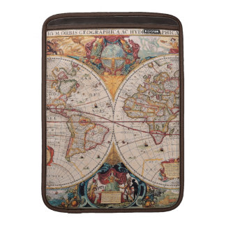 Vintage Antique Old World Map Design Faded Print MacBook Air Sleeves
