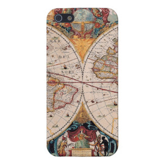 Vintage Antique Old World Map Design Faded Print iPhone SE/5/5s Case