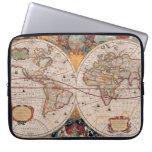 Vintage Antique Old World Map Design Faded Print Laptop Sleeves