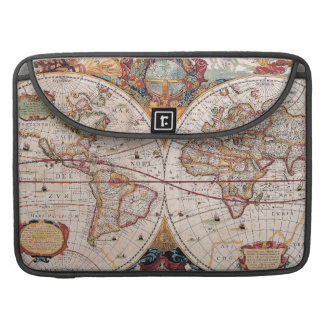 Vintage Antique Old World Map Design Faded Print MacBook Pro Sleeves