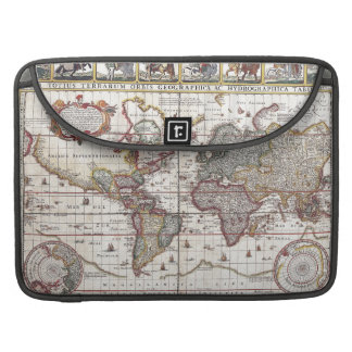 Vintage Antique Old World Map Design Faded Print MacBook Pro Sleeve