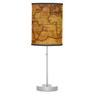 Vintage Antique old World Maps Desk Lamp
