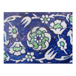 Vintage Antique Ottoman Style ceramic tile Postcard