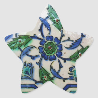 Vintage Antique Ottoman Tile Design Star Sticker