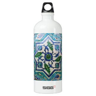 Vintage Antique Ottoman Tile Design Water Bottle