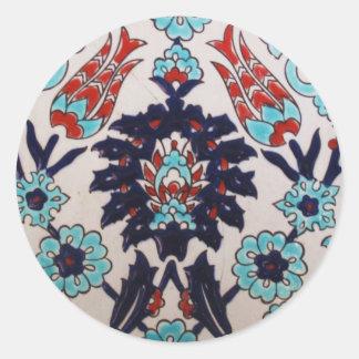 VINTAGE antique Ottoman Turkish tile TULIP Classic Round Sticker
