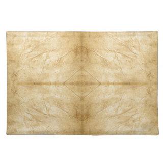 Vintage Antique Paper Scroll Cloth Placemat