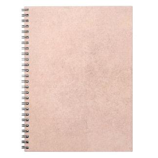 Vintage Antique Parchment Pink Paper Background Notebook