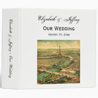 Vintage Antique Paris Print Wedding Binder