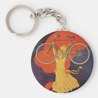 Vintage Antique Peugeot Bicycles Bike Keychain