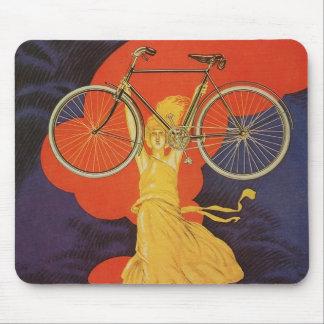 Vintage Antique Peugeot Bicycles Bike Mousepad