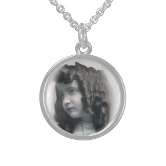 Vintage antique Photo silver necklace FromMyDesk