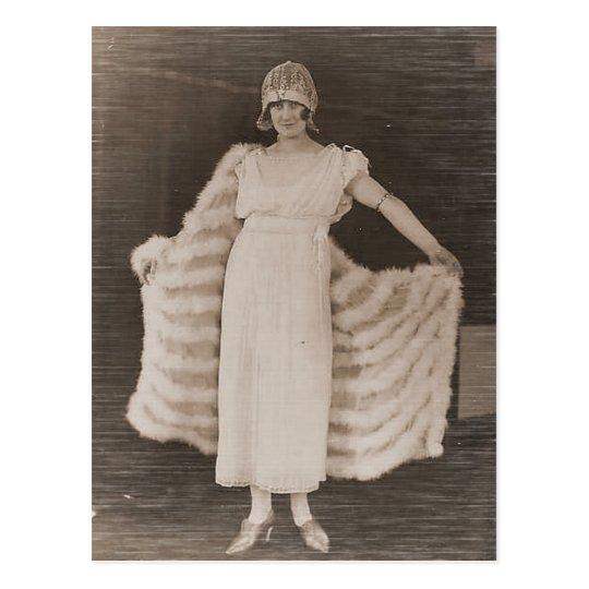 Vintage Antique Photographs Portraits of Flappers Postcard