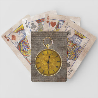 Vintage Antique Pocket Watch Playing Cards