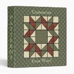 Vintage Antique Quilt Art Custom Avery Binder