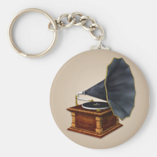Vintage Antique Record Player Keychain