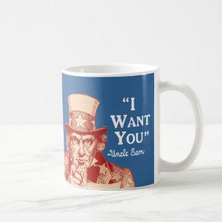 Vintage Antique Red Uncle Sam Independence July 4 Coffee Mug