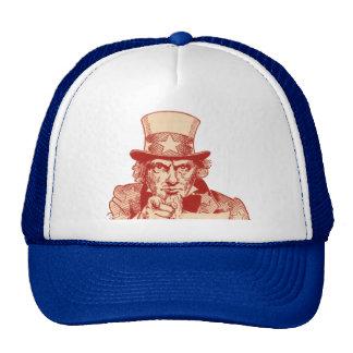Vintage Antique Red Uncle Sam Independence July 4 Trucker Hat