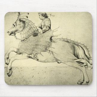 Vintage Antique Renaissance Pegasus Bellerophon Mouse Pad