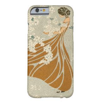 Vintage Antique Retro Art Nouveau Woman Flowers Barely There iPhone 6 Case