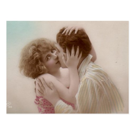 Vintage Antique Romantic Couples Cards and Gifts Postcard