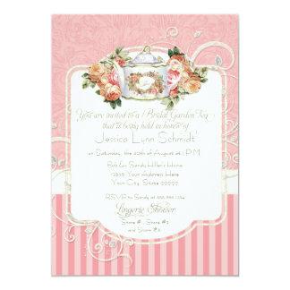 Vintage Antique Rose Floral Bouquet Lingerie Tea Card