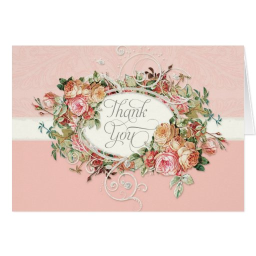... Rose Floral Bouquet Thank You Note Stationery Note Card | Zazzle