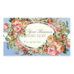 Vintage Antique Roses Floral Bouquet Modern Swirls Business Card Templates