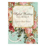 Vintage Antique Roses Floral Bouquet Modern Swirls Business Card Templates