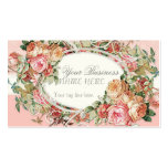 Vintage Antique Roses Floral Bouquet Modern Swirls Business Card Template