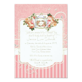 Vintage Antique Roses Floral Bouquet Modern Swirls Card
